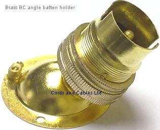 ANGL BC Angle BRASS Batten Lamp Holder