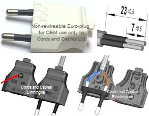 Euro Plugs European Plugs 2 Pin Euro Plug 16a Schuko Plugs