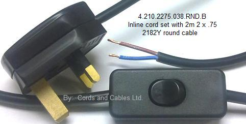 inline cord sets with 2192y ho3vvh2 f flat oval cable large thumbwheel switch 4 210 2275 rnd 038 b in line cord set 2 core round cable