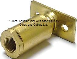 Brass ball knuckle joint