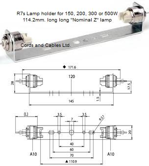 R7s Lamp Holders For Double Ended Linear Tungsten Halogen